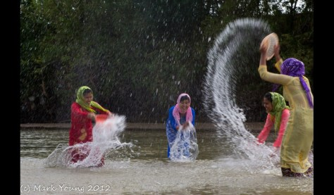 Local Phan Rang girls playing in the river