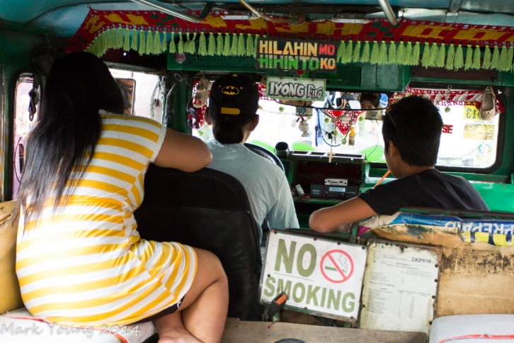 View from inside the jeepney