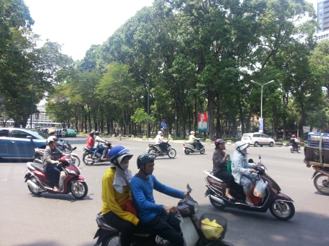 Traffic in saigon