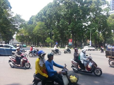 Traffic in saigon